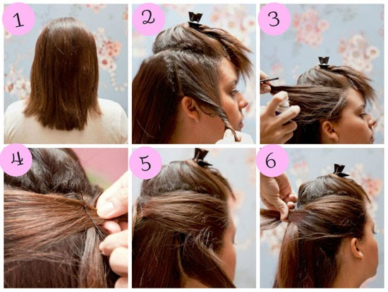 Penteados para cabelos curtos passo a passo