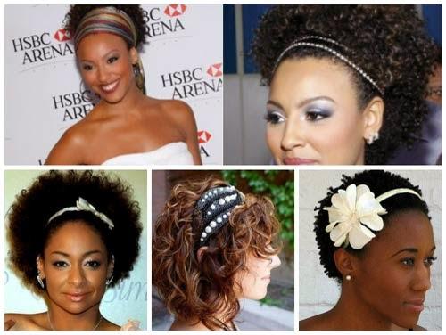 penteados simples para cabelos curtos e cacheados