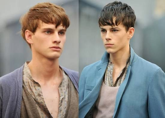 franja para homens com cabelo liso