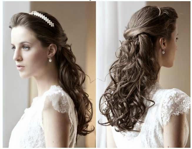 penteados com cachos para noivas
