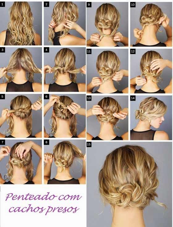 penteados com cachos simples - tutorial