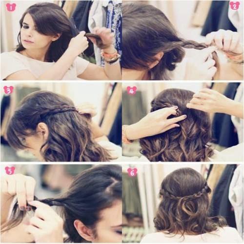 penteados fáceis para cabelos curtos passo a passo