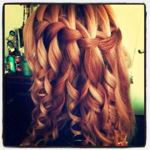 penteados com cachos para madrinhas