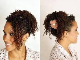 penteados para cabelos curtos e crespos infantil