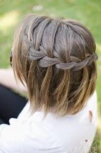 trança cascata em cabelo curto