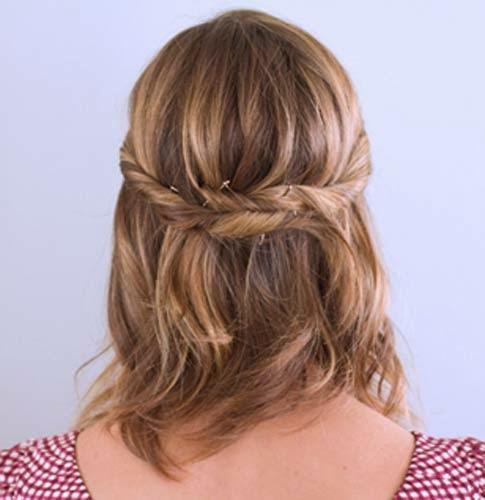 penteados simples para cabelos curtos com tranças