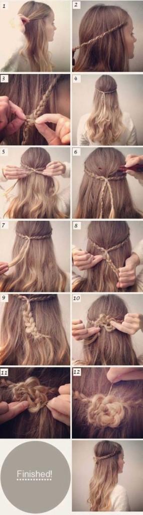 penteados com cachos passo a passo