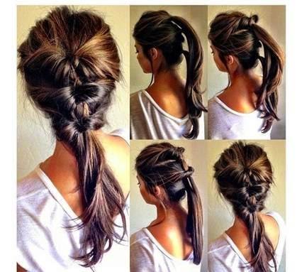 penteados simples para o natal