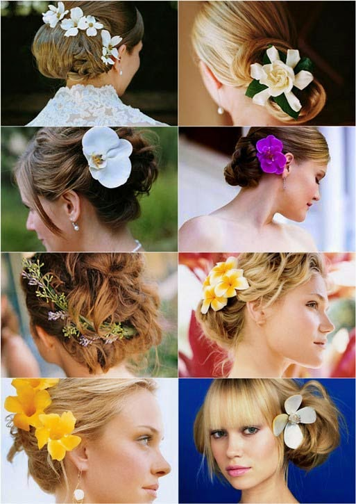 imagens de penteados com flores naturais
