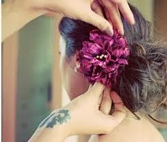 coque com flor natural