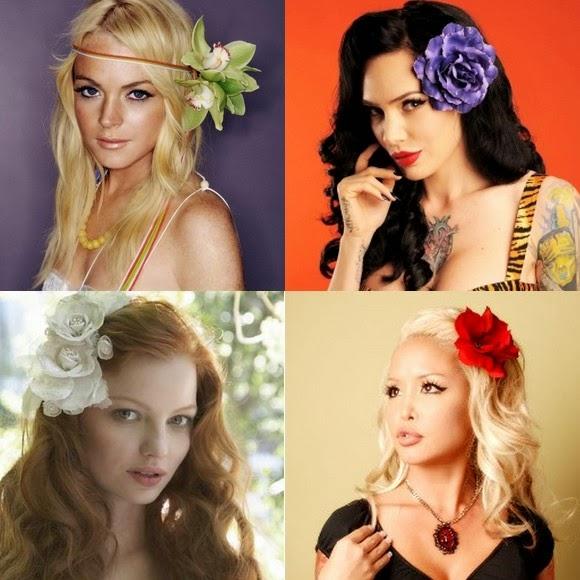 como usar cabelos com flores