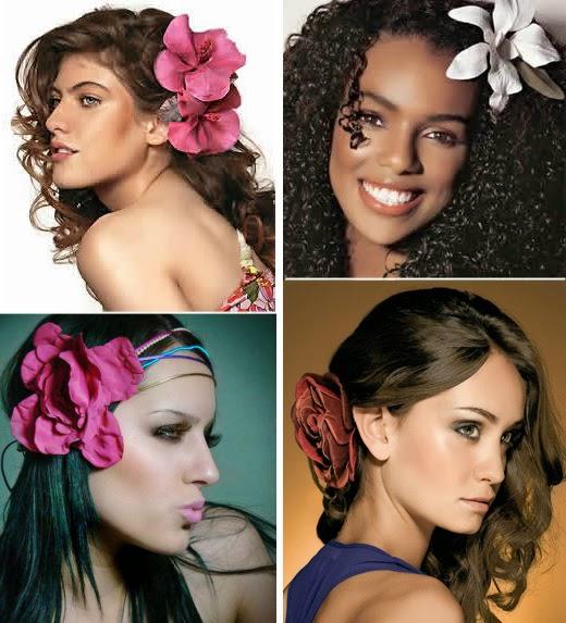 os melhores penteados fermininos com flores