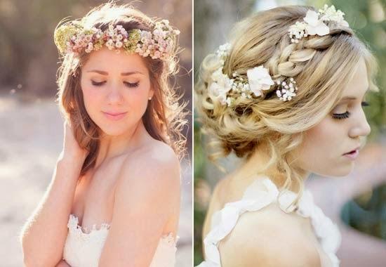 coroa grossa com cabelo de noiva