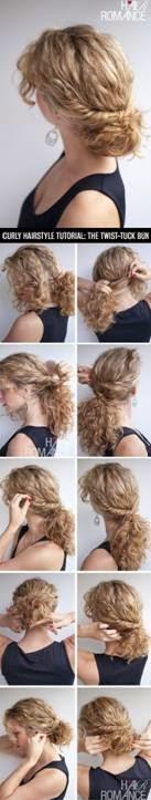 Penteados para cabelos cacheados Passo a Passo