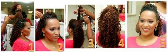 Fotos de penteados para cabelos cacheados - formatura