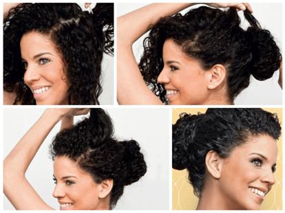 como fazer penteado fácil em casa para cabelo cacheado