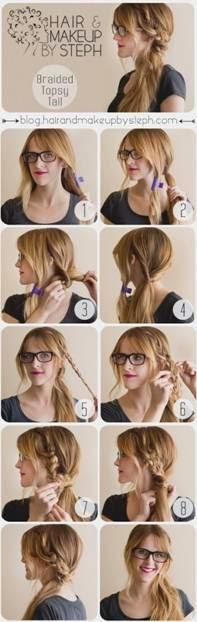 penteados presos simples