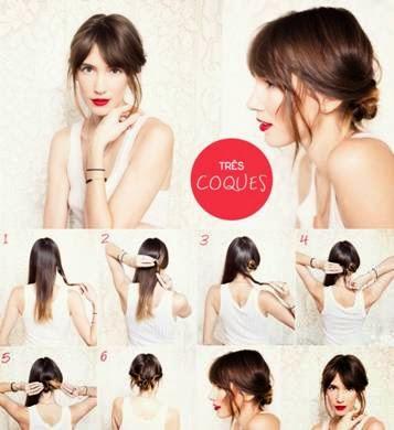 como fazer penteados presos para cabelos longos
