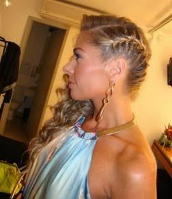 fotos de penteados com trança embutida
