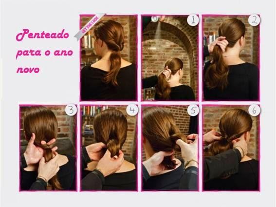 penteados simples para ano novo